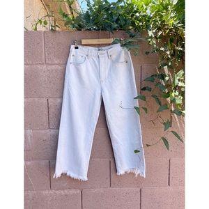 AE ✨NWOT✨ SHORT Wide Leg Cropped Lightwash Jeans